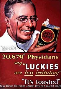 Den rökande läkaren försöker sprida tvivel om rökningens farlighet