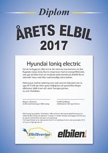 Hyundai Ioniq är Årets Elbil 2017
